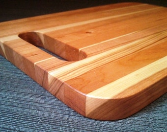 Handmade in Vermont Wooden Cutting Board | Cheese Board in Rustic Cherry - It's the Sandy!