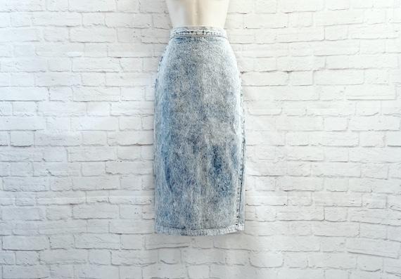 Vintage 80s Acid Wash Embellished Dress