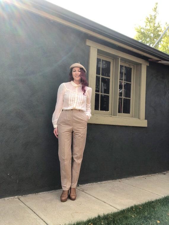 Vintage 70s Gunne Sax Blouse Victorian Prairie To… - image 7