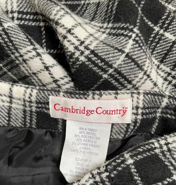 Vintage 90s Plaid Wool Wrap Maxi Riding Skirt L F… - image 7