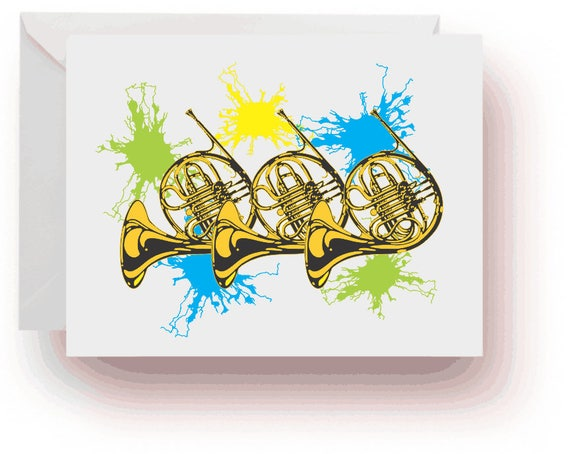 French Horn Note Cards