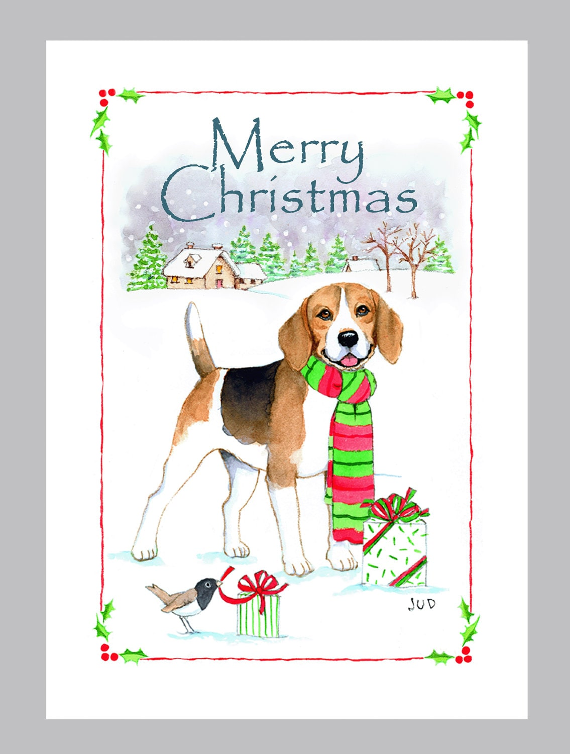 Beagle Christmas Cards Box of 16 Cards and Envelopes | Etsy