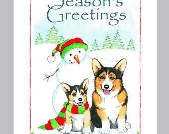 Pembroke Welsh Corgi Christmas Cards Box of 16 Cards and Envelopes