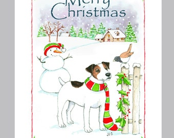 Jack Russell Terrier Christmas Cards Box of 16 Cards & Envelopes