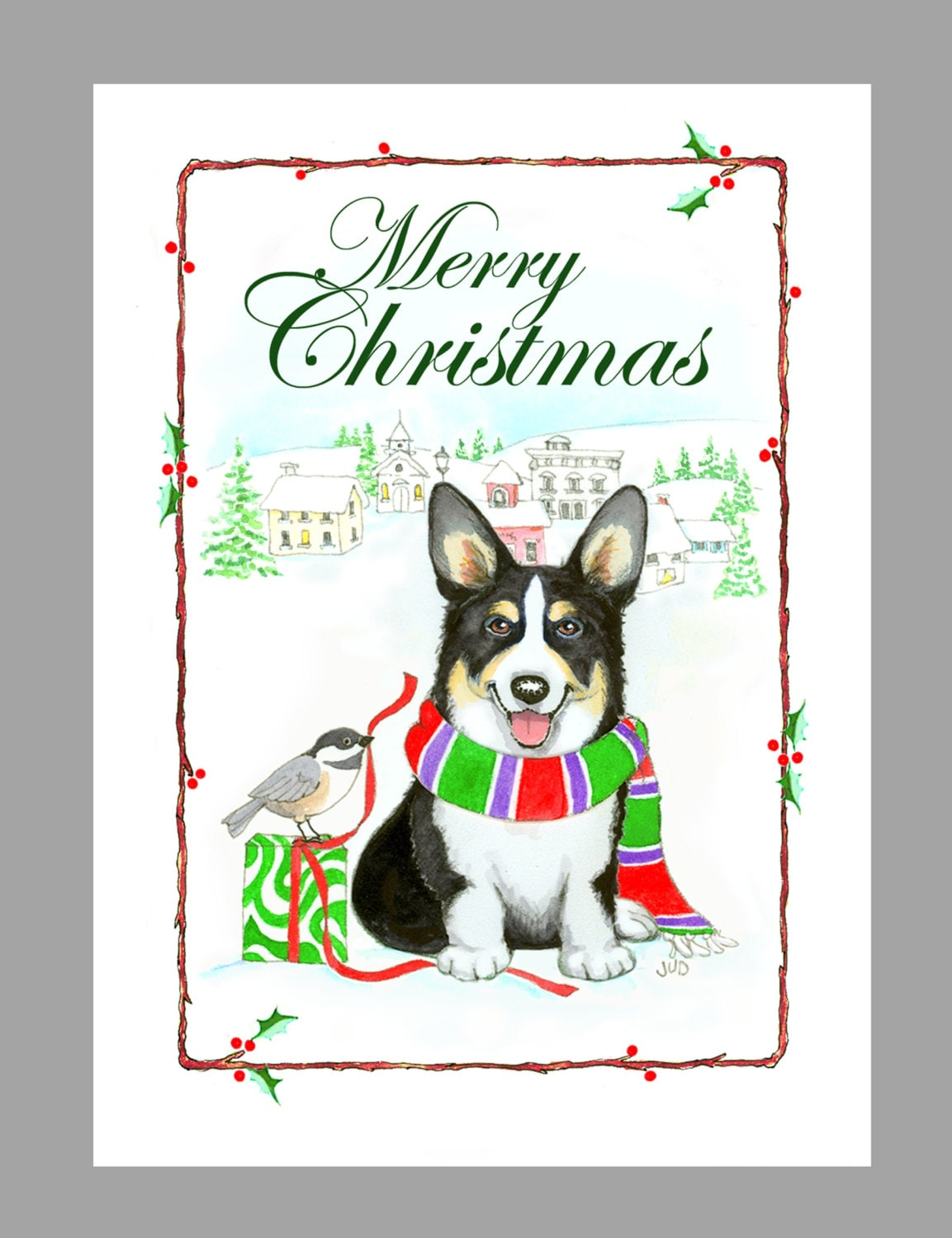 Pembroke Welsh Corgi Christmas Cards Box of 16 Cards with 16 | Etsy
