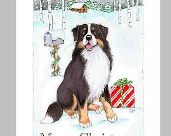 Bernese Mountain Dog Christmas Cards Box of 16 Cards and Envelopes