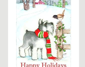 Schnauzer Christmas Cards, Box of 16