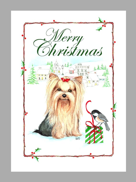 Box of 16 Cards /& 16 Envelopes Soft Coated Wheaten Terrier Dog Christmas Cards