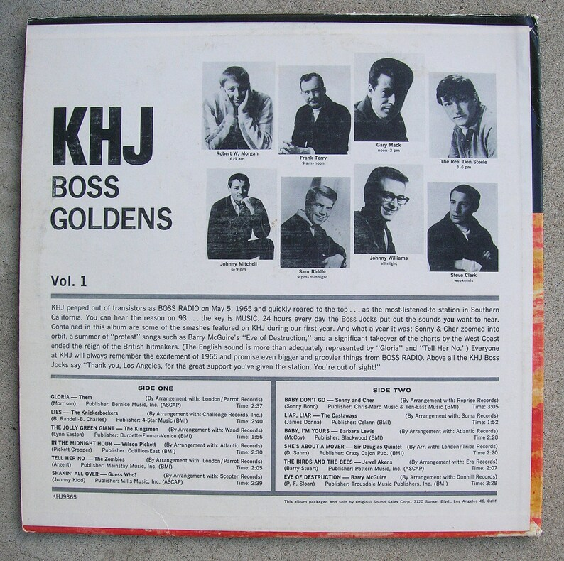KHJ: Best Songs of 1965 - Famous Hip L A  Radio Stations Favorite Hit Songs  from 1965 - Classic Sixties Vinyl