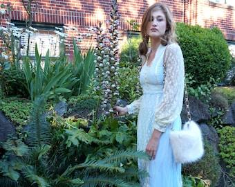 Princess Blue 1970's Gunne Sax Dress