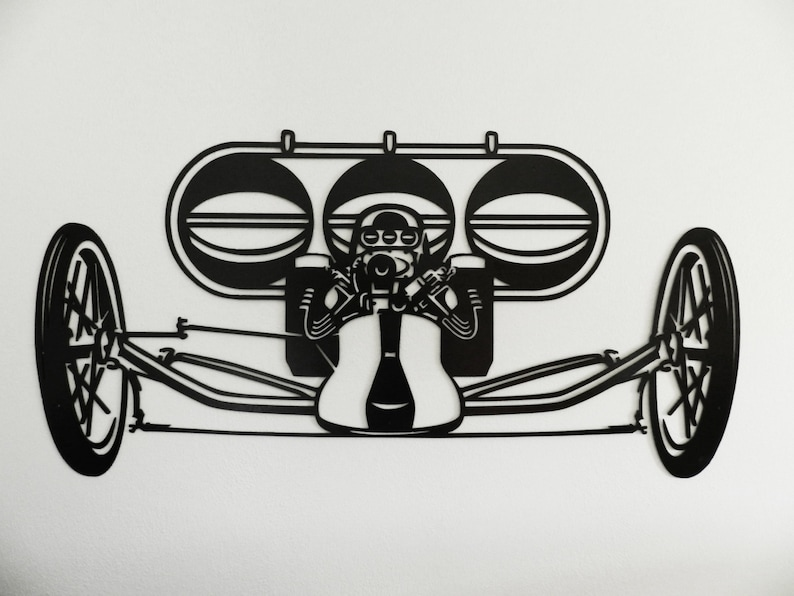 Classic Rail Dragster (Air Scoop) Metal Wall Art