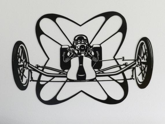 Classic Rail Dragster Parachute Metal Wall Art