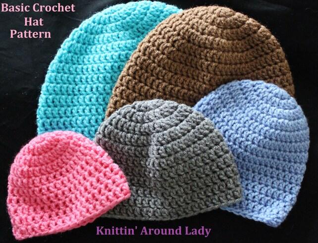 Basic Crochet Hat Pattern Etsy