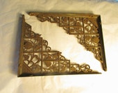 Large Pair of Flower and Vine Design Cast Iron Shelf Brackets Fine Detail 6380