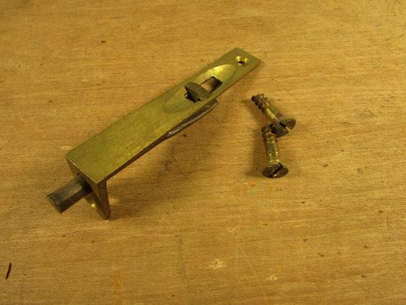 image 0 - Antique Cabinet Door Flush Latch Lock Brass Furniture Etsy