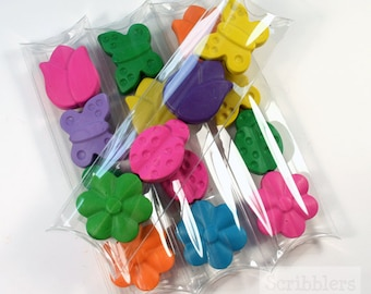 Spring garden crayon stick set of 4 crayons by Scribblers Crayons