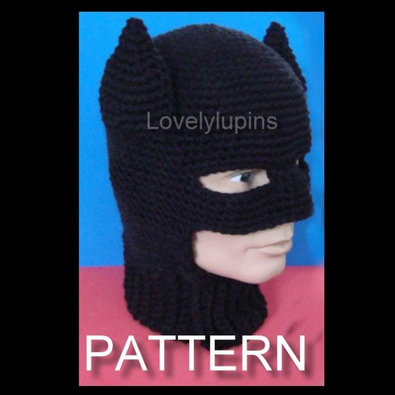 Batman Uomo Cappello Modello Uncinetto Modello Di Taglia Etsy