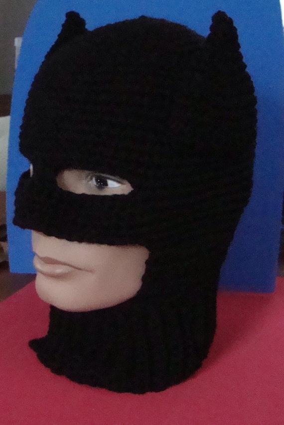 Crochet Batman Hat Pattern Costume Adult Beanie Etsy