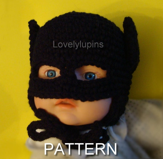 Batman Crochet Hat Pattern Batman Baby Batman Crochet Etsy