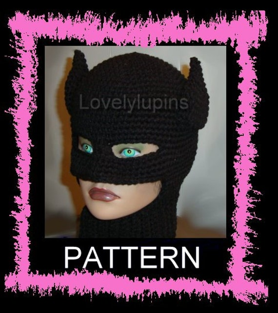 Batman Crochet Hat Batman Pattern Batman Beanie Batman Hat Etsy