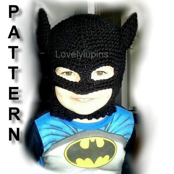Batman Hat Crochet Pattern Batman Crochet Hat Pattern Bat Etsy