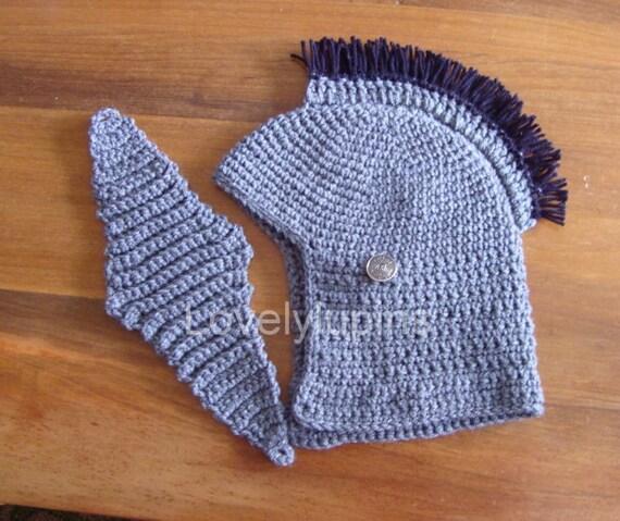 Hat Crochet Pattern Men Costume Spartan Pattern Etsy
