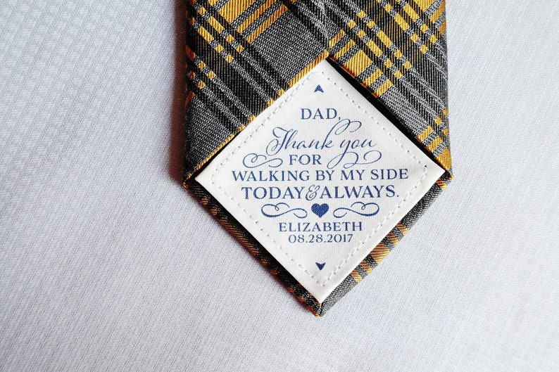 Tie Patch for dad Father of the Bride Gift Thank You for image 0