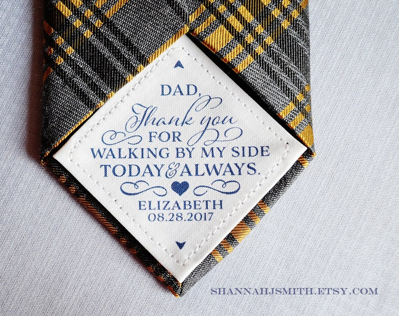 Tie Patch   Father of the Bride Gift for Dad  Wedding Day image 0