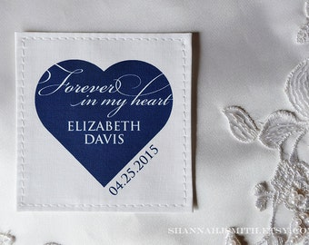 Something Blue Personalized Bridal Memorial Patch | In Memory Patch | Wedding Dress Label | Forever In My Heart