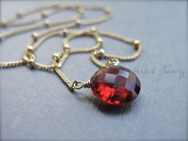 7bbc85a932cd Piedra preciosa granate collar collar de granate solitario en