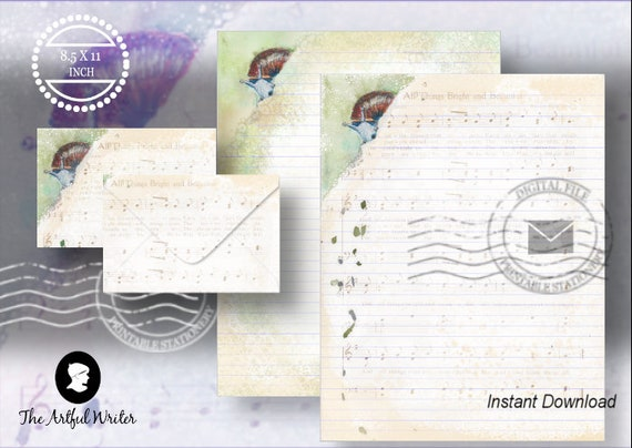 printable letter writing paperdigital lined stationery stationary note paper digital lined writing paper lined journal paper page