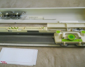 Nice Vintage Studio Knitting Machine-Model 328-with 20 Punch Cards-Made in Japan-Clean and Appears to be Complete