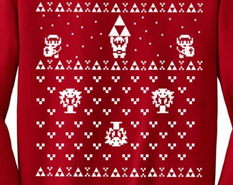 more colors zelda ugly christmas sweater