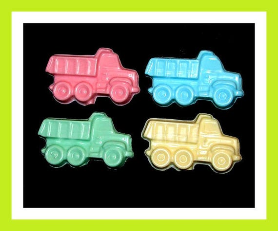 24 Dump Truck Soap Favors,Birthday Party Favor,Personalized Button,Boy Favor,Girl Birthday Favor,Kid Soap,Trucks