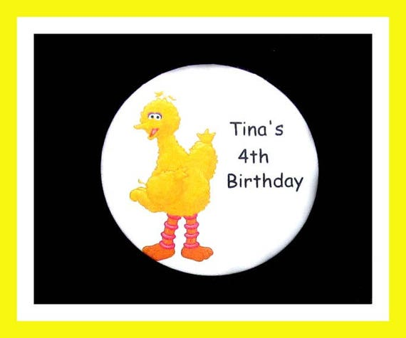 Birthday Party Favor Personalized Button, Bird Pin Favor,School Favor,Kid Party Favor,Boy Birthday,Girl BirthdayPin,Favor Tag Set of 10