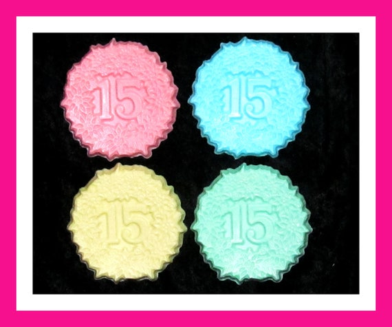 15th Birthday Party Soap Favors,15th Anniversary Favors, Quinceanera,Bulk Party Favors,Her Birthday Favors,Set of 24