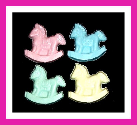 24 Rocking Horse Soap Favors,Baby Shower Favors,Personalized Baby Shower Button,Birthday Party,its a Girl,its a Boy