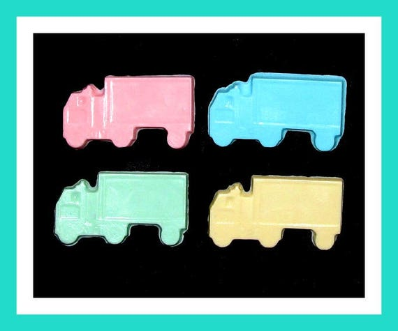 24 Truck Soap Favors,Baby Shower Favors,Birthday Party Favors,Personalized Button,Boy Birthday Favors,Girl Birthday