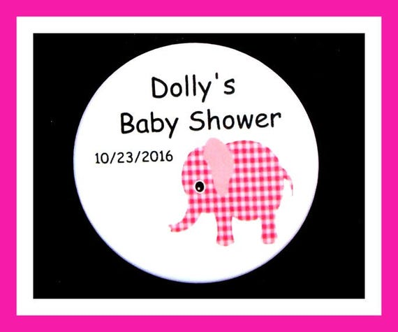 Baby Shower Elephant Favor,Personalized Button,Favor Tag,Its a girl,Its a Boy,Party Favor,Birthday Party Favors,Personalized Favor,Set of 10