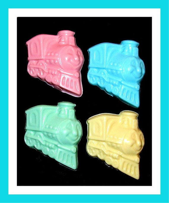 24 Train Soap Favors,Birthday Party Favors,Personalized Button Pin,Girl Birthday Favors,Boy Birthday Favors,Kid Soap