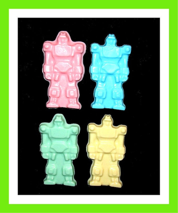 24 Robot Soap Favors,Birthday Party Favors,Baby Shower Favors,Personalized Button Pin,Boys Birthday Favors,Girl