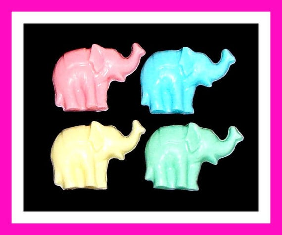 24 Elephant Soap Favors,Birthday Party Favor,Baby Shower Favor,Personalized Button Pin,Girl Birthday,Animal Favor