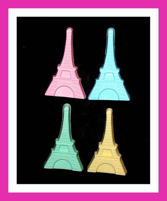 24 Eiffel Tower Soap Favors,Bridal Engagement Favors,Wedding Favors,Personalized Button,Soulmate Favors,Paris Theme