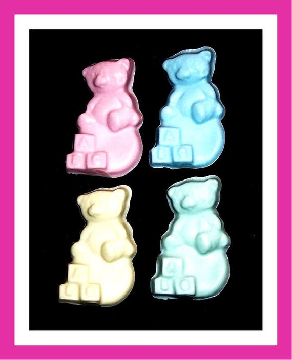 24 Bear Soap Favors,Baby Shower Favors,Personalized Baby Shower Button Pin,Its a Girl,Its a Boy,Birthday Party Favors