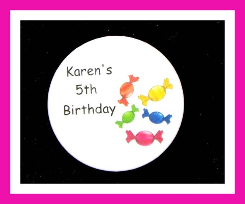 Personalized Button,Candy Pin Favor,School Favors,Kids Party Favor,Boy Birthday,Girl Birthday,Pins Set of 10 Birthday Party Favors