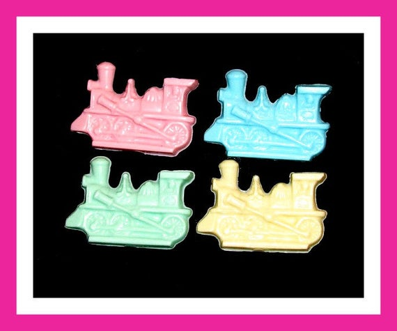 24 Train Soap Favors,Birthday Party Favors,Baby Shower Favors,Personalized Button Pin,Girl Birthday Favors,Boy Birthday Favors,Choo Choo