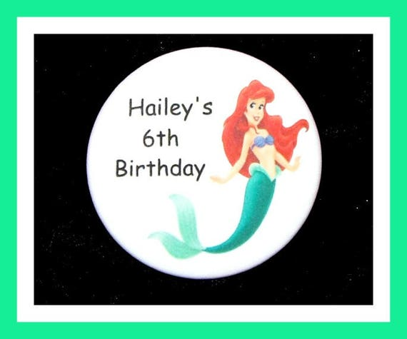 Birthday Party Favor, Personalized Button,Mermaid Pin Favor,School Favor,Kid Party Favor,Boy Birthday,Girl Birthday,Pin,Favor Tag, Set of 10
