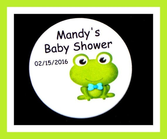 Baby Shower Frog Favor,Personalized Buttons,Favor Tags,Its a girl,Its a Boy,Party Favors,Birthday Party Favors,Personalized Favors,Set of 10