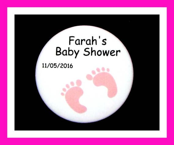 Baby Shower Feet Favor,Personalized Buttons,Favor Tags,Its a Girl,Baby Girl,Party Favors,Birthday Party Favors,Personalized Favors,Set of 10