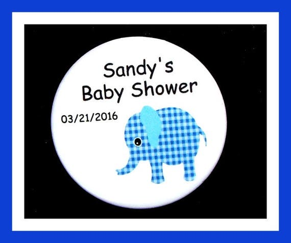 Baby Shower Elephant Favor,Personalized Button,Favor Tag,Its a girl,Its a Boy,Party Favor,Birthday Party Favor,Personalized Favors,Set of 10